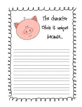 Olivia Literacy Activities