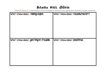 Olivia! Schema and text-to-self connections handout