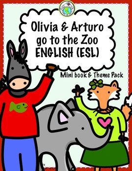 Olivia and Arturo Go to the Zoo Activity Pack in ENGLISH