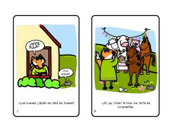 Olivia en la granja Farm Printable Spanish Minibook