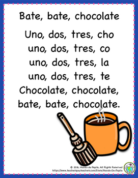 Olivia hace chocolate caliente Spanish Hot Chocolate Winter Theme Pack