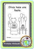 Olivia hace una fiesta Birthday party Spanish printable minibook