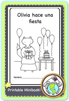 Olivia hace una fiesta Birthday party Spanish printable minibook