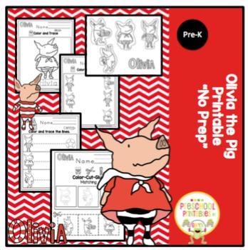 "Olivia the Pig Printable ""No Prep"""