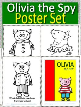 Olivia the Spy Interactive Read Aloud Activities and Olivia the Spy Poster Set
