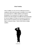 Olivier Tremblay - Rembrance Day paragraph reading