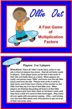 Ollie Out Multiplication Factor Game