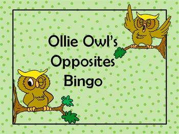 Ollie Owl's Opposites Bingo Games(2) with Critical Thinking
