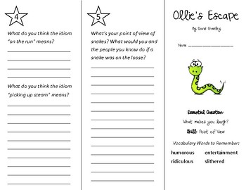 Ollie's Escape Trifold - Wonders 3rd Grade Unit 6 Week 5 (2020)