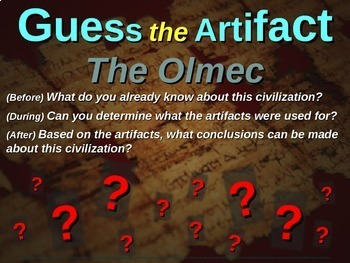 "Olmec ""Guess the artifact"" game: engaging PPT with pictures, clues & answers"