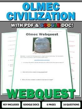 Olmec (Mesoamerican History) - Webquest with Key (Google Doc Included)