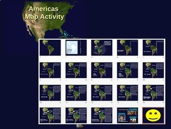 Olmec-Toltec-Maya-Inca-Aztec Map Activity: easy, fun, interactive 20-slide PPT
