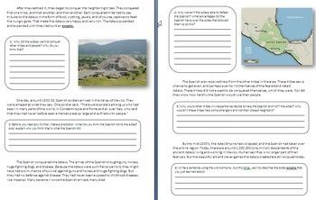 Olmecs, Aztecs and Mayans - 3 Lesson Mini Unit - Bundle