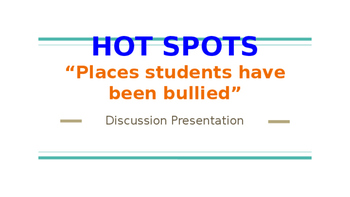 """Olweus: Hot Spots: """"Places where students have been bullied"""""""