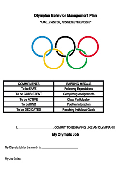 Olympian Behavior Management Plan