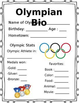Olympian Bio *Editable*