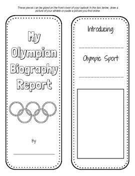 Olympian Biography Lapbook Report