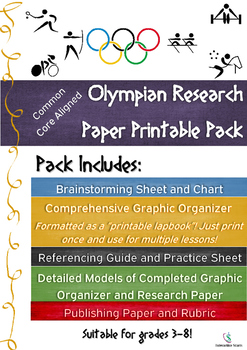 Olympian Research Paper Printable Pack