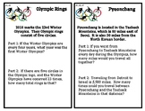 Olympic 2018 - Math Word Problems