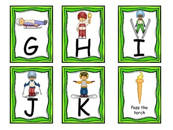 Olympic ABC initial sounds and letter game