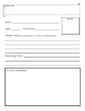 Olympic Athlete Biography Sheets