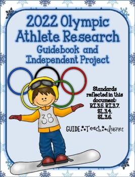 2018 Winter Olympic Athlete - Independent Study Project and Class Booklet