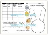 Olympic Athlete Worksheet