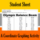 Olympic Balance Beam - A Coordinate Graphing Activity
