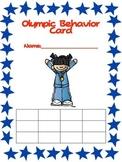 Olympic Behavior Freebie