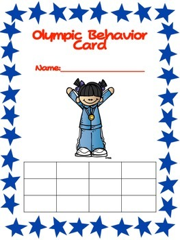 Olympic Behavior Freebie