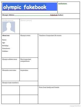 Olympic Biography Fakebook Organizer