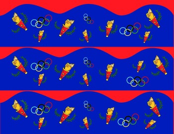 Olympic Bulletin Board Theme - Borders, Clip art and frames, Oh my!