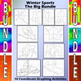 Winter Sports - 10 Coordinate Graphing Activities Bundle