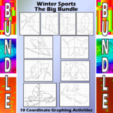 Winter Sports - 10 Coordinate Graphing Activities Bundle