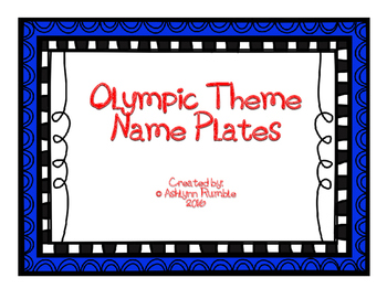 Olympic Desk Name Plates