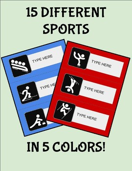 Olympic Desk Tags (Editable on Google Slides)