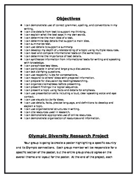 Olympic Diversity Research Project