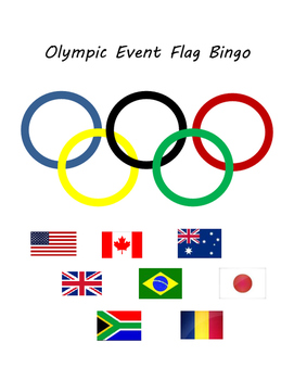 Olympic Event Flag Bingo