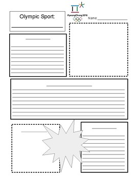 Olympic Fact Sheet Template