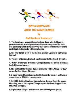 Olympic Factoids(Possible Interactive Notebook Activity)