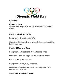 Olympic Field Day
