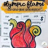 Olympic Flame Articulation Cut and Glue