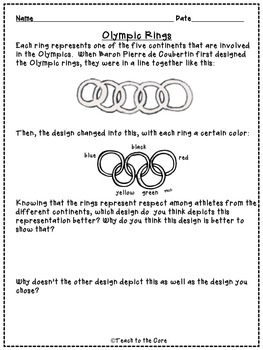 Olympics NO PREP Close Reading Text Passages, Activities and More! Gr. 2-3