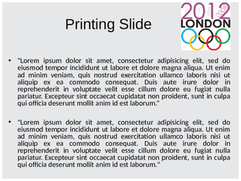 Olympic Games PowerPoint Template