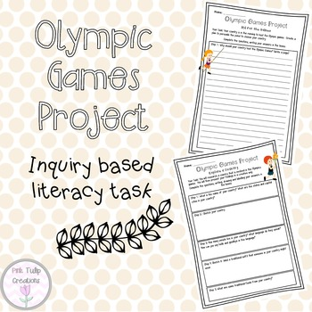 Olympic Games Project - Inquiry Based Reading and Writing