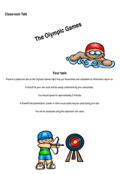 Olympic Games Research Project