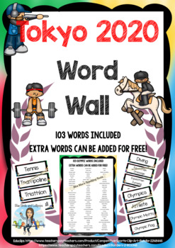 Rio - Summer Olympic Games - Word Wall - 103 words - Extra