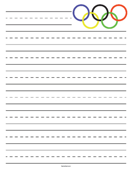 Olympic Games Symbol Primary Lined Paper