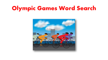 Olympic Games Word Search
