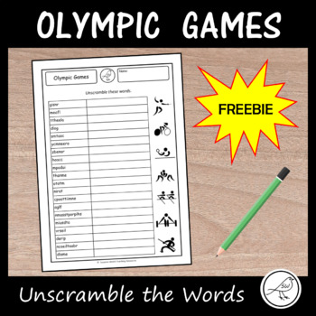 Olympic Games - Freebie -  Unscramble the words